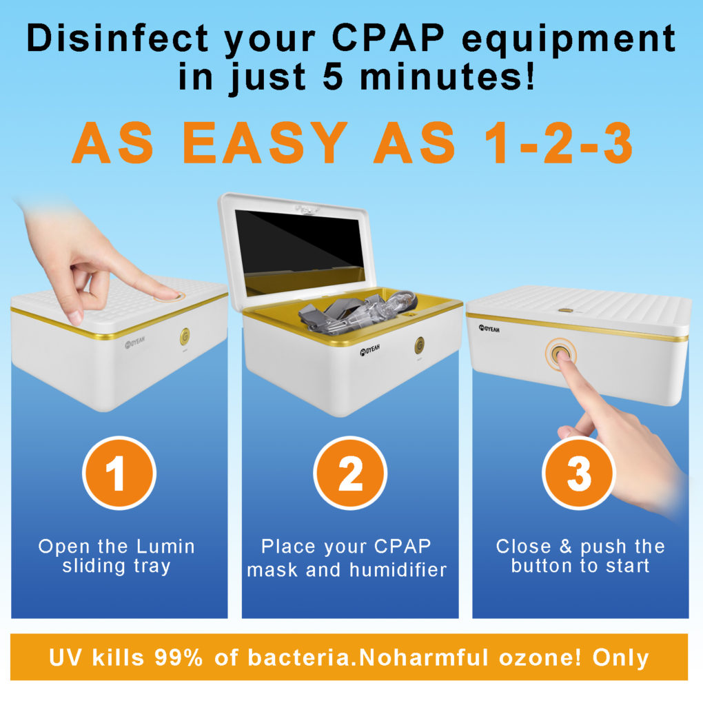 MOYEAH CPAP Cleaner and Sanitizer Ozone + UV For CPAP Mask Tube